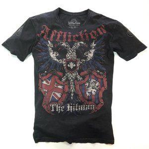 Affliction T Shirt Ricky Hatton Hitman Black Sz XL